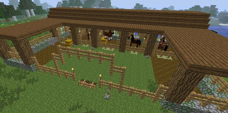 minecraft stable | Minecraft Stables by SapphireGirlMC