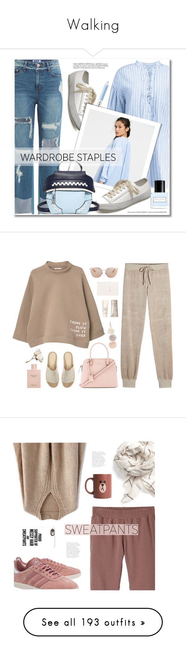 """""""Walking"""" by evgeniavega ❤ liked on Polyvore featuring Marc Jacobs, SJYP, WardrobeStaples, zaful, MANGO, Juicy Couture, Kate Spade, Mint Velvet, Gucci and Christian Dior"""