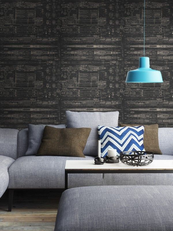 MARITIME Wallpaper from The Engineer Collection by MINDTHEGAP