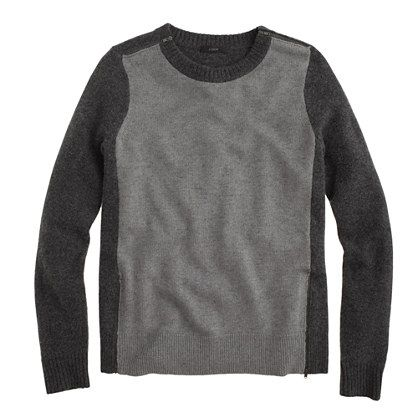 Double-zip sweater in colorblock - Womens - Gift Guide - J.Crew