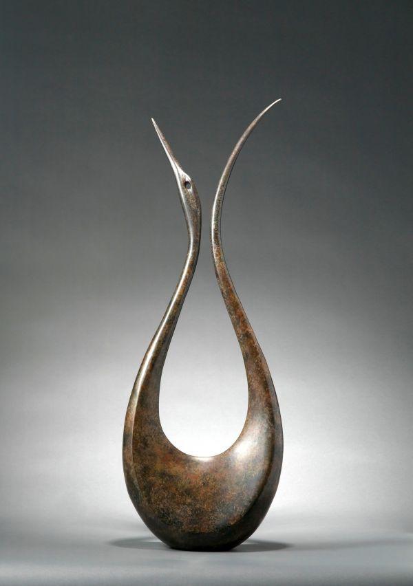 Bronze Birds Sculptures or statue by artist Simon Gudgeon titled: 'Lyrebird 1.8m'