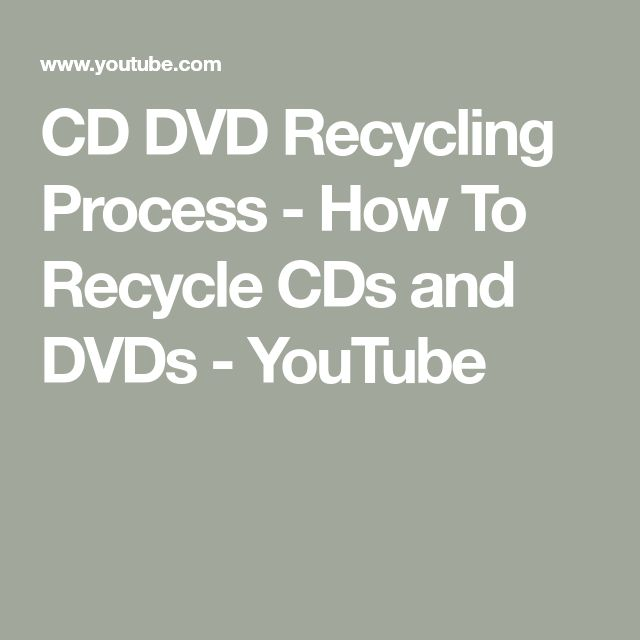CD DVD Recycling Process - How To Recycle CDs and DVDs - YouTube