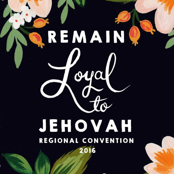 PREORDER - Remain Loyal To Jehovah 2016 Regional Convention Notebook, JW
