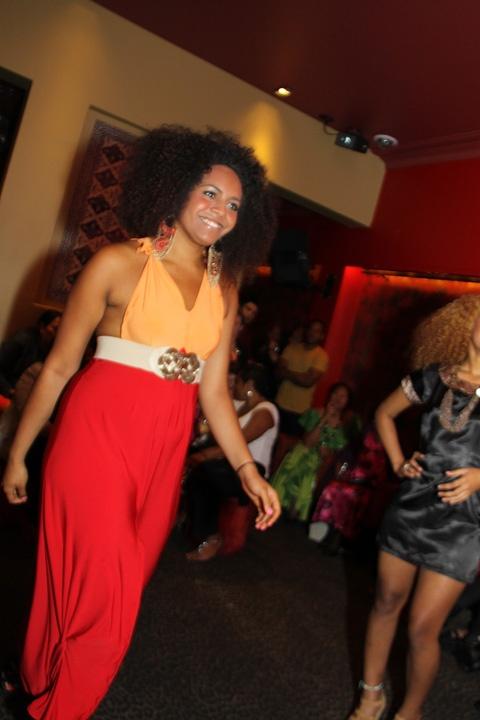 Still Colour Blocking like a mad woman - this dress represents the Fijian Sunrise!