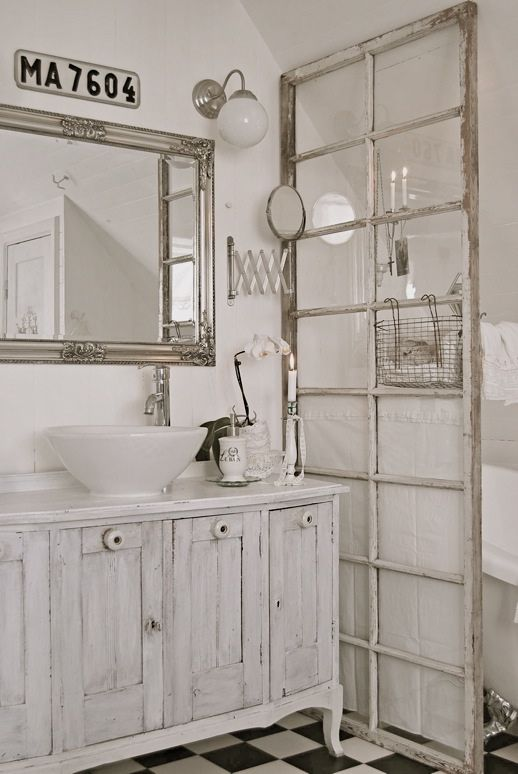 Old doors and windows for room dividing; especially nice in bathroom, dressing room, sitting room home decor areas. Upcycle, recycle, repurpose, salvage, diy! For ideas and goods shop at Estate ReSale & ReDesign, Bonita Springs, FL