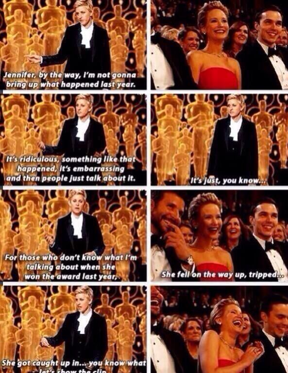 Ellen bullying Jennifer Lawrence