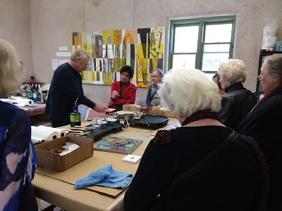 Encaustic Art Institute: Members of the Yucca Branch National League of American Pen Women enjoyed a demo and tour at the EAI last Friday. Thanks for your visit!