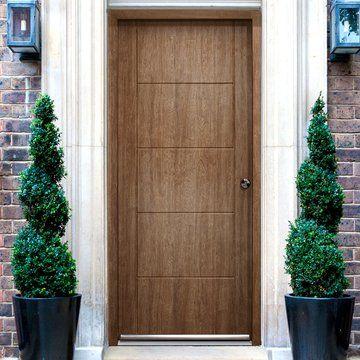 Enduradoor Vancouver Solid External Composite Door with a beautiful woodgrain effect.