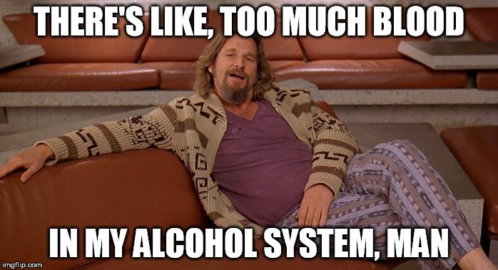 Image result for alcohol system has too much blood