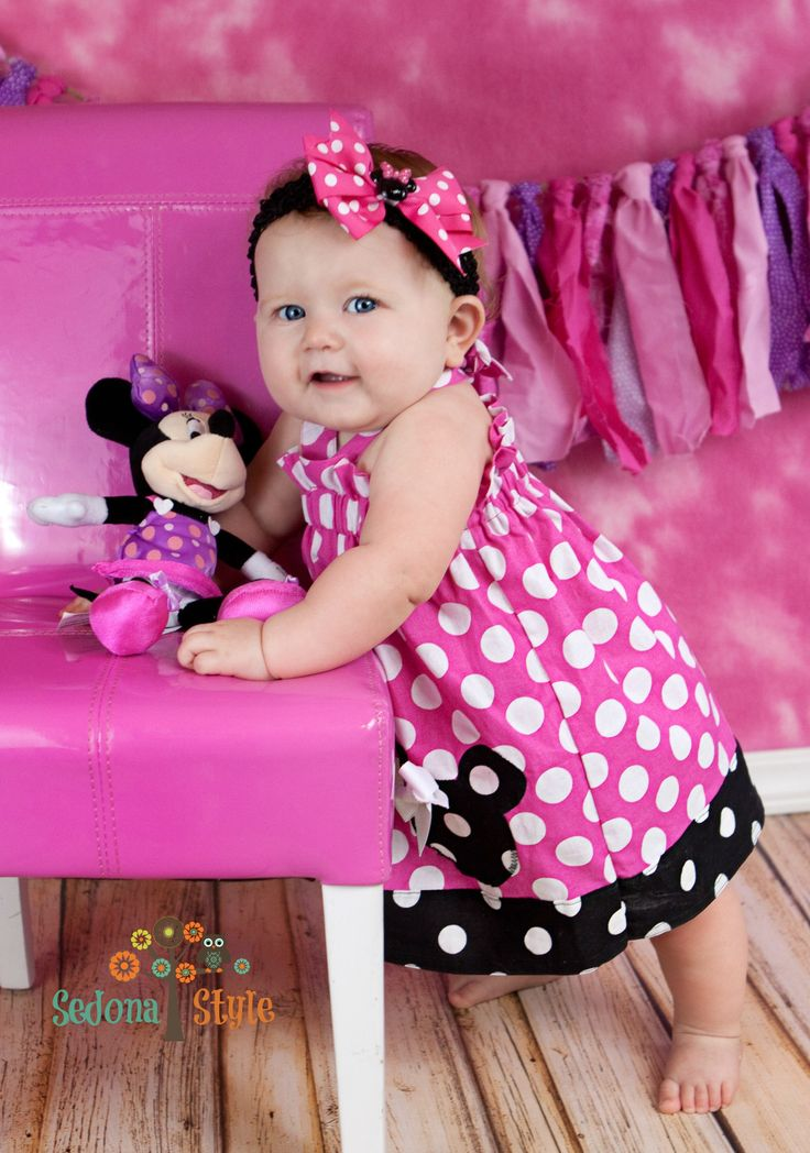 Girls Minnie Mouse Birthday Dress Girls First Birthday