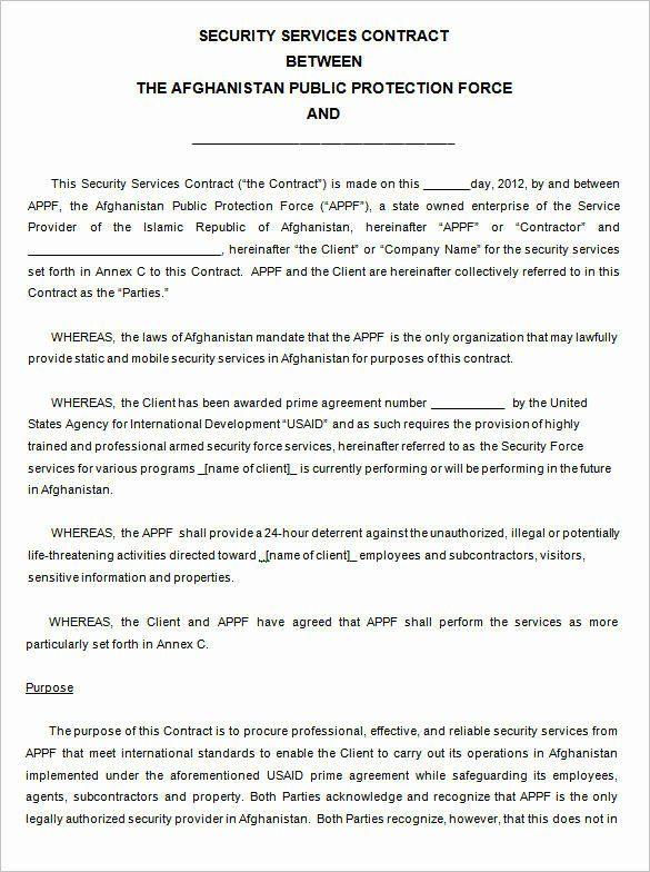 20 Alarm Monitoring Certificate Template In 2020 Contract