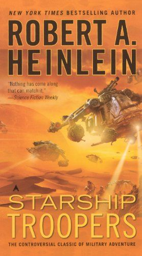 Starship Troopers (Turtleback School & Library Binding Edition) by Robert A. Heinlein http://www.amazon.com/dp/0785787283/ref=cm_sw_r_pi_dp_EtxQvb0JJD2AD
