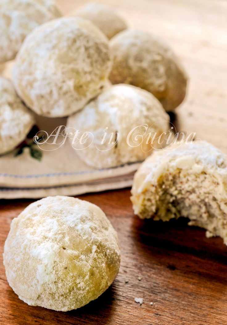 Snowball cookies biscotti alle mandorle veloci vickyart arte in cucina