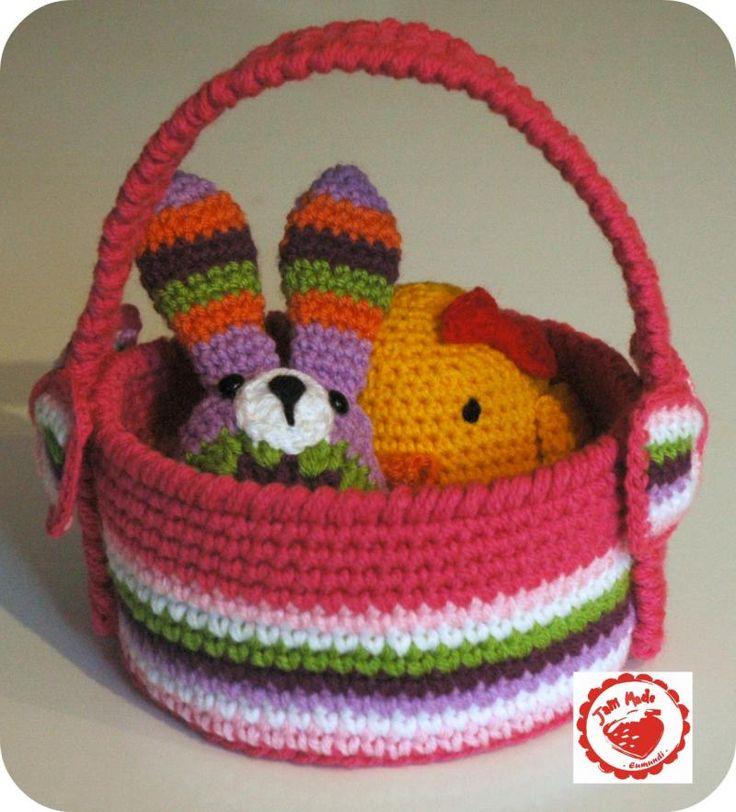 Free Crochet Pattern For Easter Basket : Easter Basket free crochet Knitting and Crochet ...