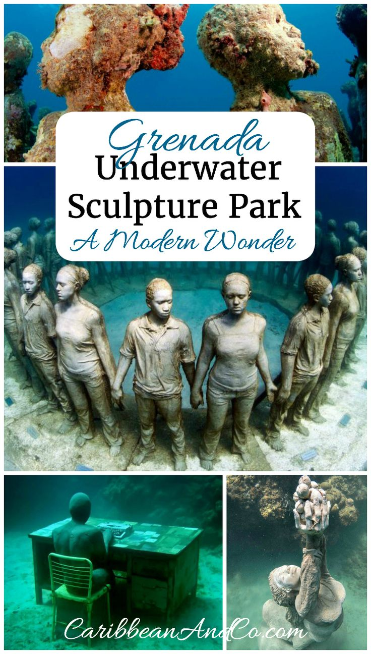Divers looking for a truly unique experience in the Caribbean should travel to the island of Grenada and explore the world's first underwater sculpture park at Moliniere Bay.  There are a range of sculptures some haunting but all so inviting to look at and explore.
