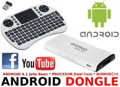 ANDROID 4.1 DONGLE CABLETECH URZ0350 + KLAWIATURA