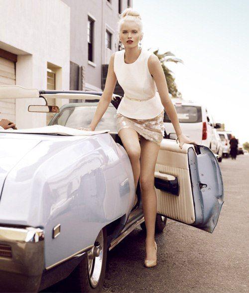ru_glamour: Эбби Ли Кершоу в рекламной кампании Portmans