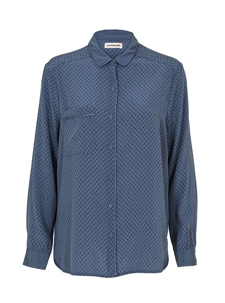 Adine Stretch-Silk Shirt   Custommade.dk
