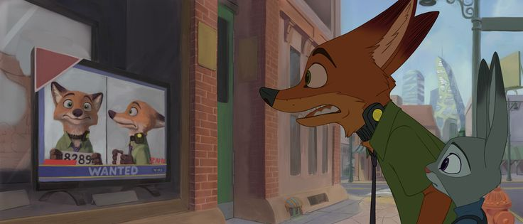 """Not just some guy who doesn't want to go to jail by aqvilarostrvm.deviantart.com on @DeviantArt Drawing of Nick Wilde seeing his wanted poster on TV after returning to Zootopia from Bunny Burrow. From original story board which which was sadly never completed.   Drawn by """"The Giant Hamster"""", but not 100% completed. #collar #shock_collar #tame_collar #zootopia_shock_collar #zootopia_tame_collar #wantedposter #workinprogress #zootopia #nickwilde #zootopia_disney #nick_wilde #judyhopps…"""