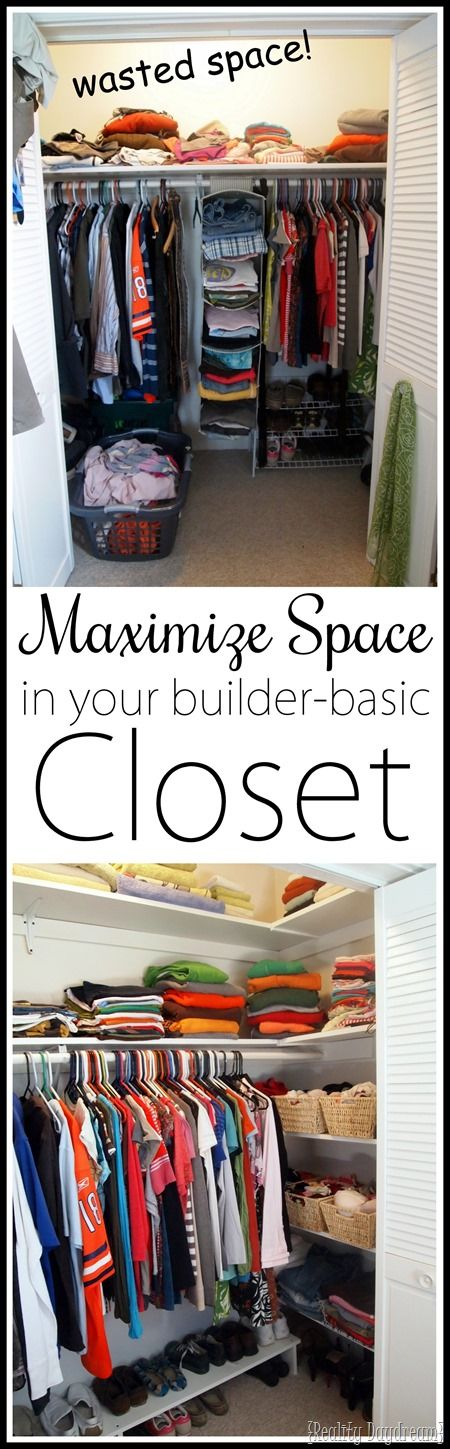 Merveilleux DIY Custom Closet Shelving Tutorial {Reality Daydream}. Maximize Closet  SpaceBest Way To Organize ClosetSmall ...