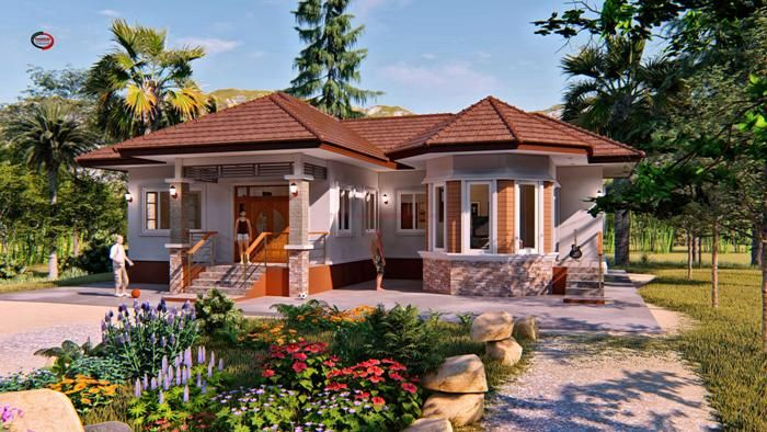 Contemporary Three Bedroom Bungalow That Can Be Remodeled To Include Another Bedroom Cool House C Beautiful House Plans Bungalow House Design Bungalow Design