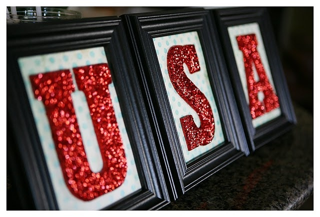 USA: Holiday, Idea, 4Thofjuly, Glitter Project, 4Th Of July, July 4Th, Red White, Glitter Letters, Usa