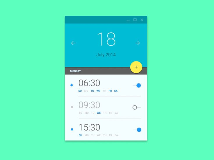 Alarm Material UI by Ehsan Rahimi #design #ui #dribbble #gif #animation #materialdesign #google #uimotion #android