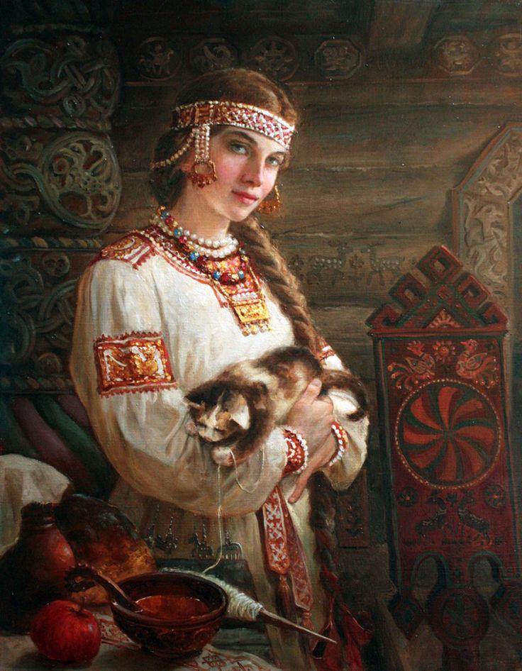 Художник Андрей Алексеевич Шишкин. Хозяюшка