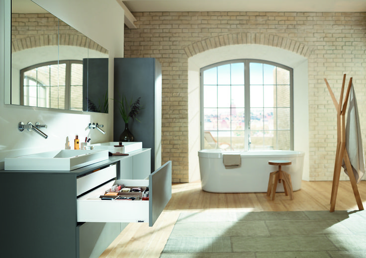#Blum products are well suited to bathroom applications as well as kitchens and bedrooms