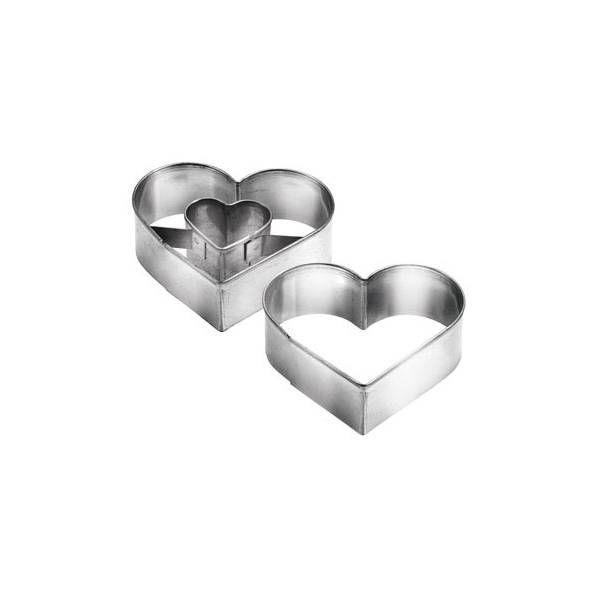 Формочки для печенья с начинкой, сердце DELICIA