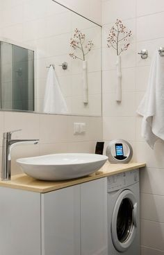 bathroom with laundry fitout - Google Search