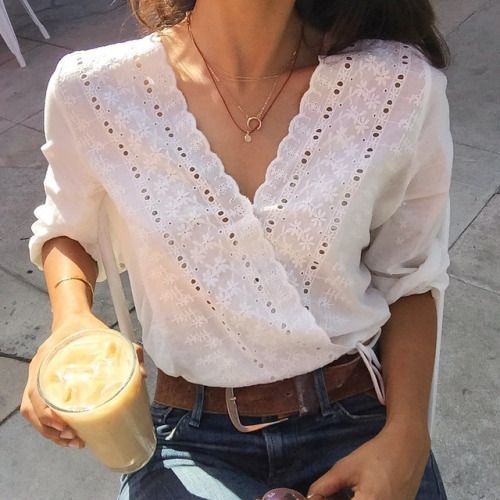 Could be styled like a button-down, but gives a boho vibe. Jeans, slacks, skirt, blazer.... It would work with it all.