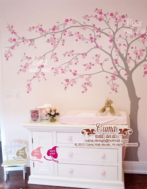 cherry blossom wall decal wall decals flower vinyl wall por cuma