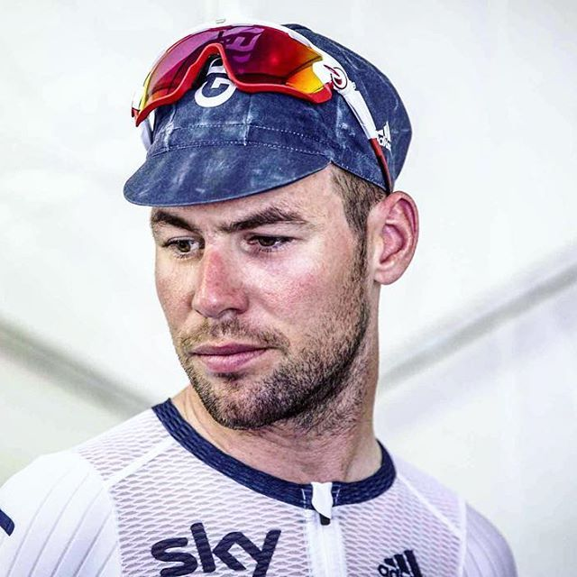 Portrait of a reflective Mark Cavendish post race in Doha by modcyclingphoto