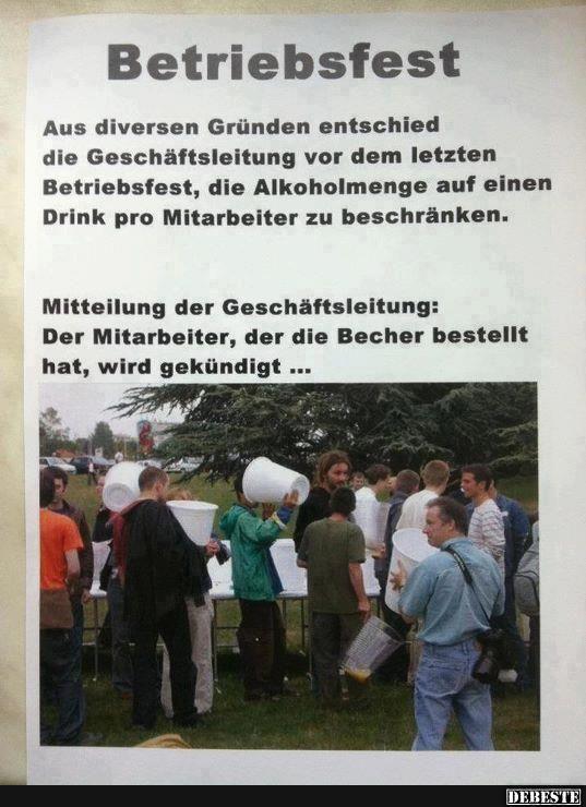 Betriebfest..   DEBESTE.de, Lustige Bilder, Sprüche, Witze und Videos