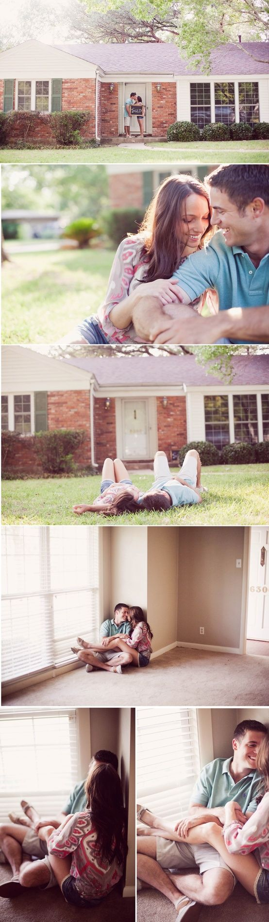Great idea for having a session with a couple celebrating their new home. Caroline Joy|Discovered « Evoking You|Inspiration for your photography