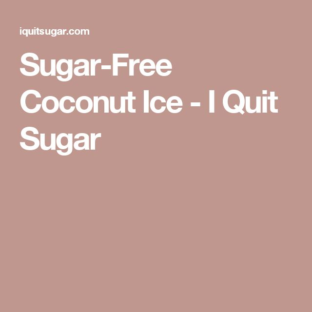 Sugar-Free Coconut Ice - I Quit Sugar