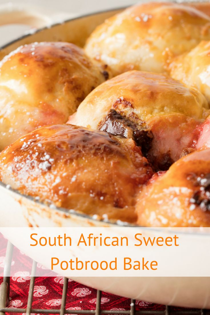 South African Potbrood recipe. We've added a jam, chocolate and marshmallow twist to a traditional potbrood recipe. Make it an occasion and bake it over the coals at a braai, or simply pop it in the oven until it's done.