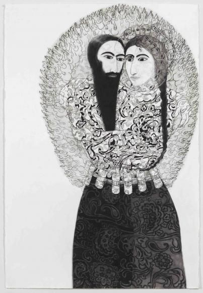 Samira Abbassy -  Suicide Pact 2015 charcoal on paper