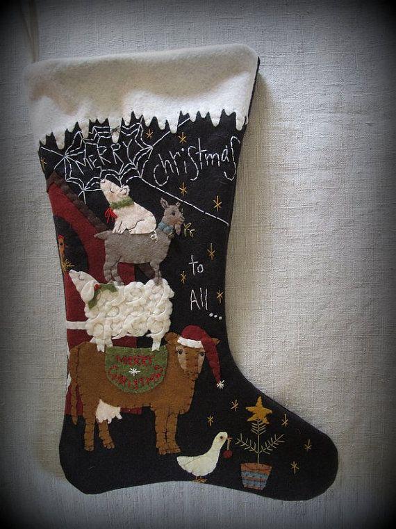 Merry Christmas to All Christmas Stocking KIT by cheswickcompany, $19.95 Cheswick Company www.cheswickcompany.com