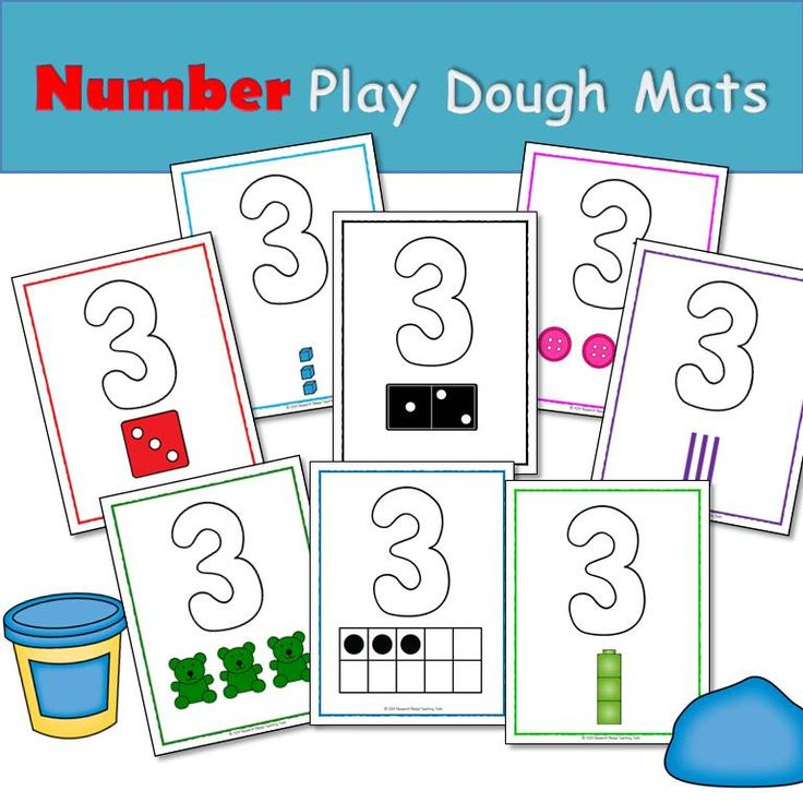 Key Words: Play dough mats, Numbers, Counting, fine motor, Pre-K, Preschool, Kindergarten, home school, special education, differentiated, Common Core, work task, task cards, independent work, small group, fun