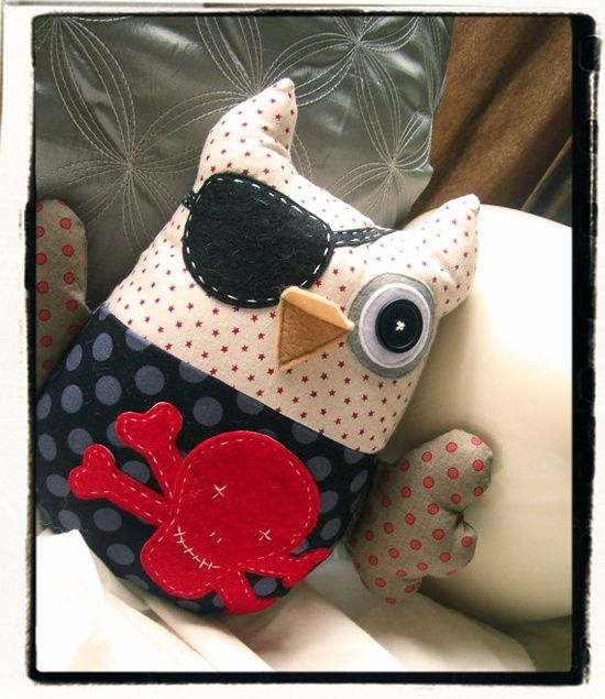 Pirate Owl Plushie - so cute and | http://best-sweet-baby-dogs.13faqs.com