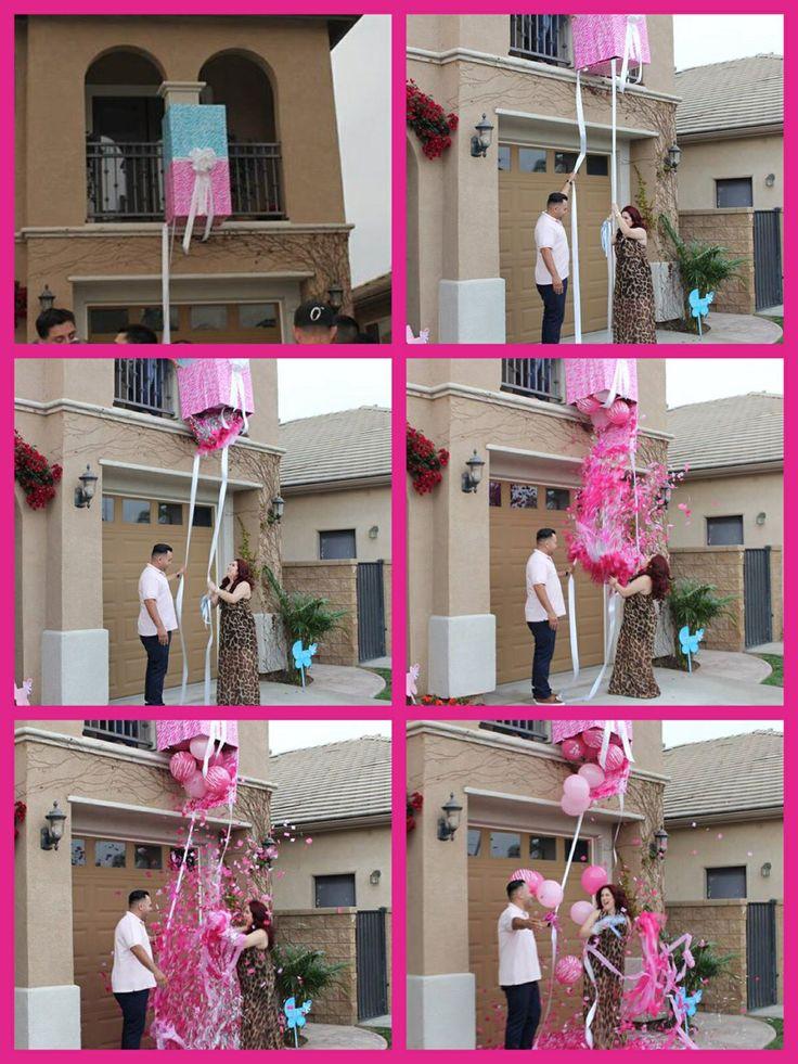 Baby Gender Reveal box confetti drop idea! #genderreveal http://www.mybigdaycompany.com/baby-showers.html