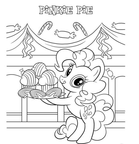pinkie pie coloring page - Pinkie Pie Coloring Pages