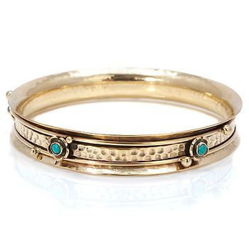 Turquoise Gemstone Spinning Bangle