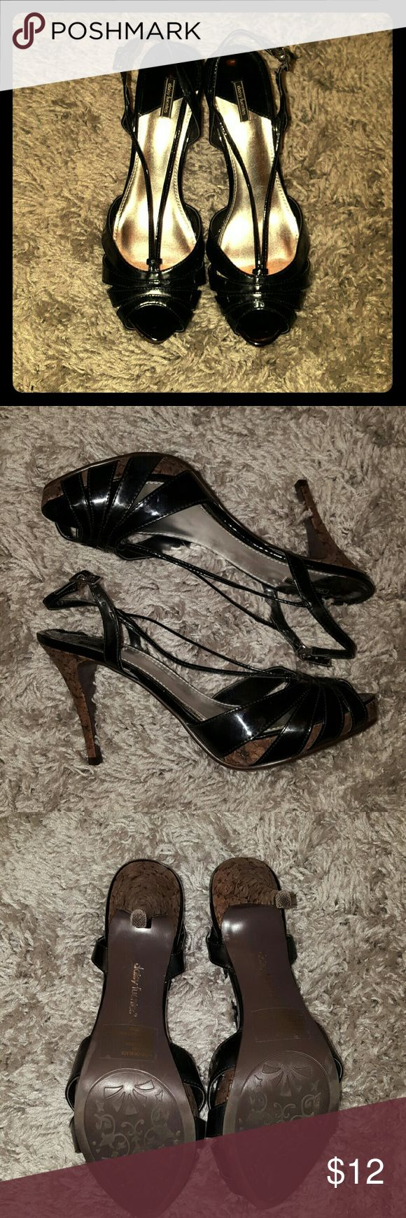 Daisy Fuentes Black and Cork heels Black and cork heels / worn once briefly Daisy Fuentes Shoes Heels
