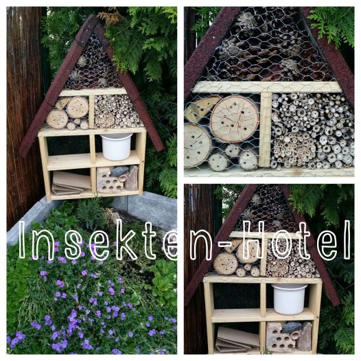 insektenhotel aus holzresten insect hotel made from leftover planks upcycling gardening. Black Bedroom Furniture Sets. Home Design Ideas