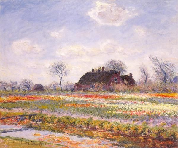 "Monet's ""field of Tulips in Sassenheim near Haarlem""    Another fav from The Kimbell's Clark exhibit"