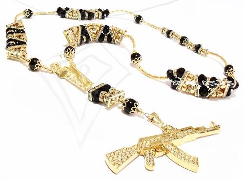 Mexican rosario, oro bimetal, $2500. Fire.