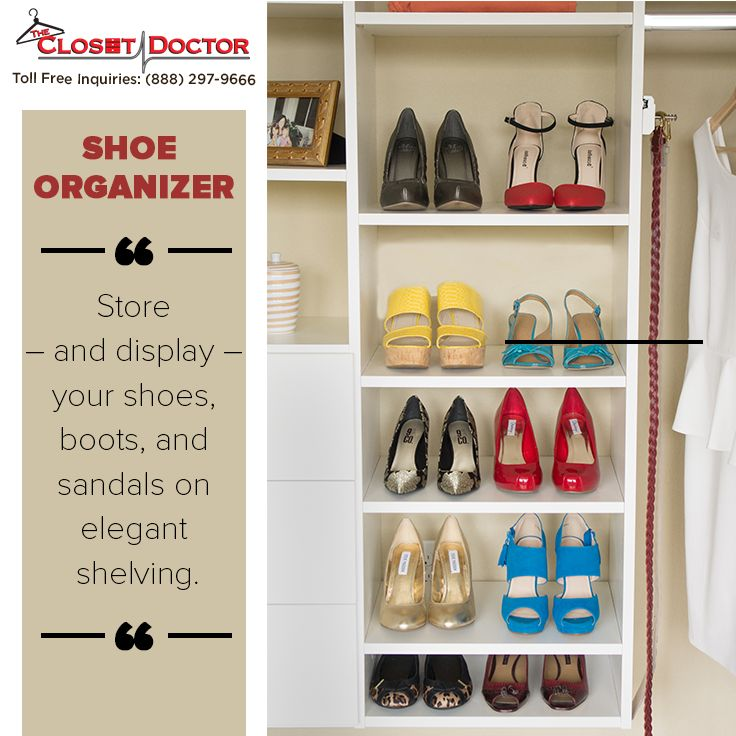 When you add a closet shoe organizer to your closet you are creating a specific